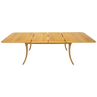 Gibbings for Widdicomb Klismos Style Dining Table with Two Extension Boards For Sale