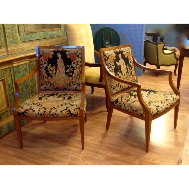 Pair of Italian Neoclassic Armchairs For Sale - Image 13 of 13