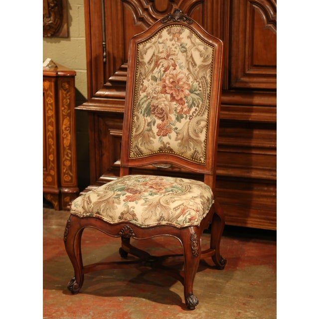 French French Carved Walnut and Fruitwood Dining Chairs and Armchairs - Set of 8 For Sale - Image 3 of 13