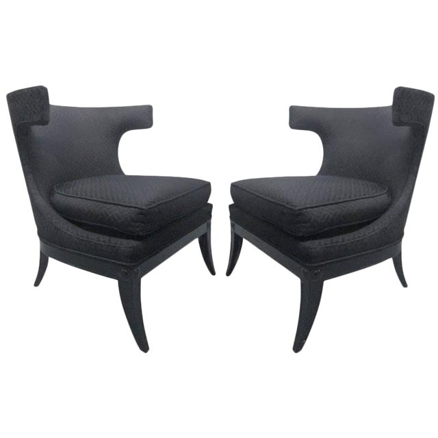 Pair of Decorative Klismos Lounge Chairs - Image 1 of 6