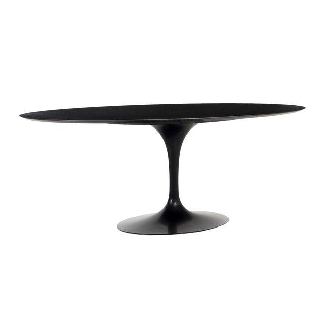 Eero Saarinen Black Granite Tulip Table For Sale