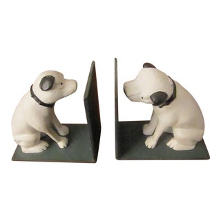 Rca Nipper Bookends - a Pair For Sale
