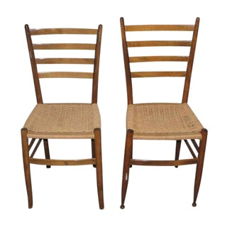 Ladder Back Dining Chairs - A Pair For Sale