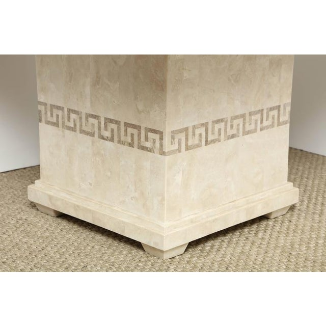 Sophisticated Square Marble Dining Or Conference Table DECASO - Marble conference table for sale