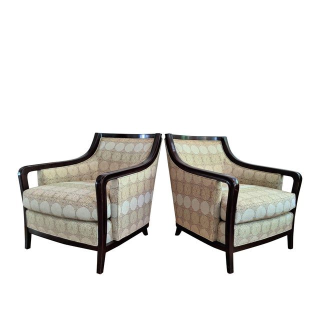 2000 - 2009 Barbara Barry for Baker Furniture Salon Chairs - a Pair For Sale - Image 5 of 13