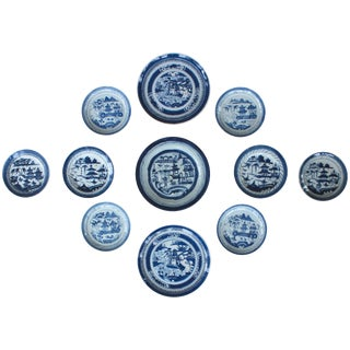 Collection of 11 Chinese Blue and White Plates For Sale