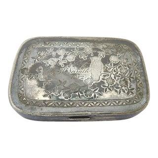 Victorian Silver Plate Box For Sale