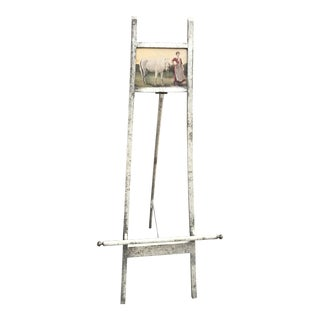 Vintage Distressed Parisian Easel
