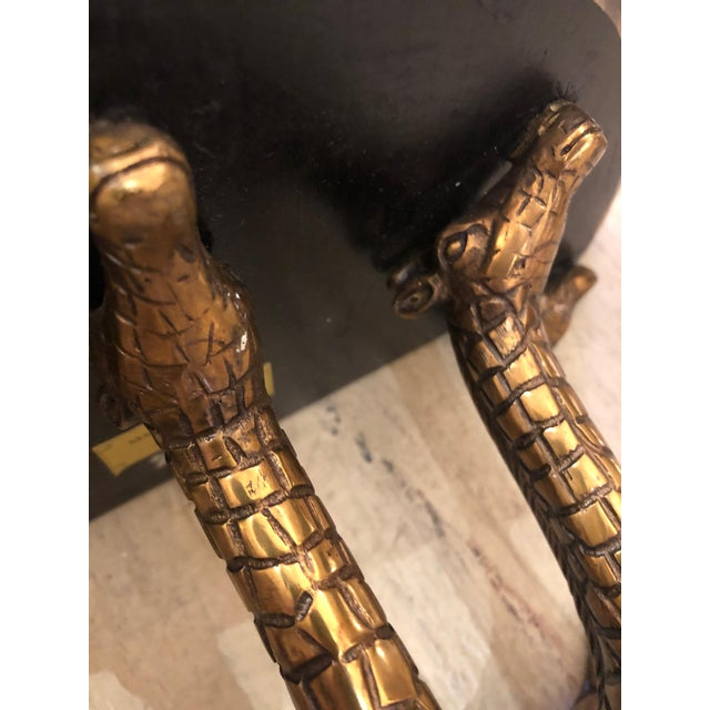 Gold 1990s Vintage Eye-Catching Giraffe Motiffe Brackets by Maitland Smith- A Pair For Sale - Image 8 of 12