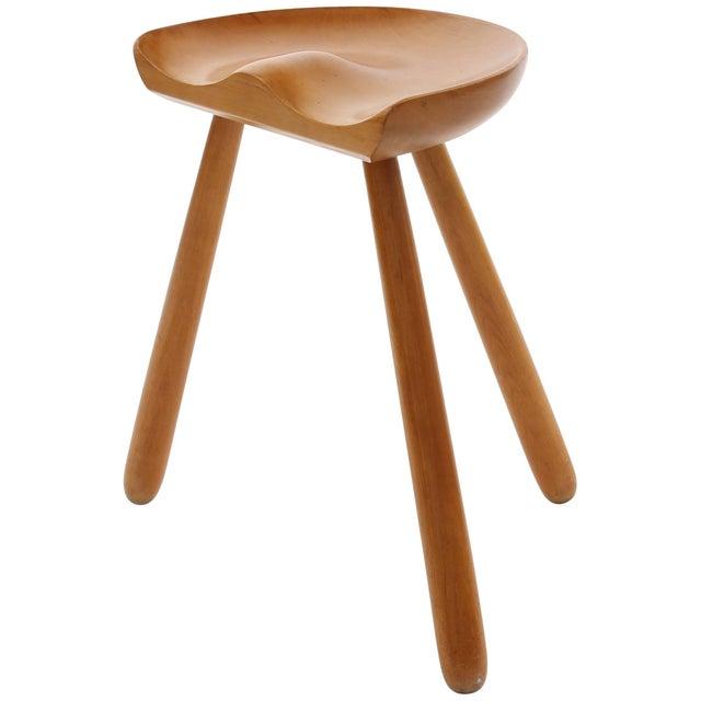 Wood 1960s Arne Hovmand Olsen Occasional Stool For Sale - Image 7 of 7