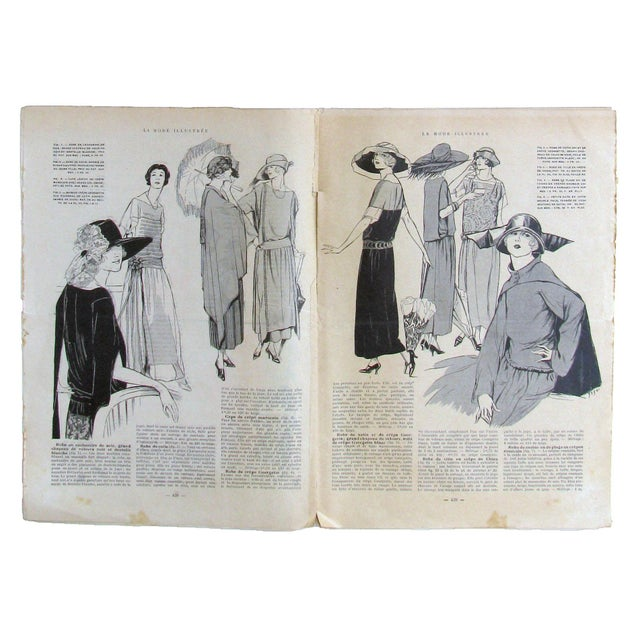 Add a little Art Deco flair to your decor with this pair of French fashion periodicals from 1922. Discovered at an antique...