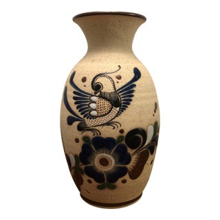 Mexican Hand Painted Pottery Vase