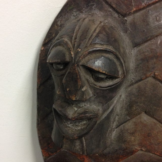 Hand Crafted African Wooden Shield - Image 3 of 9