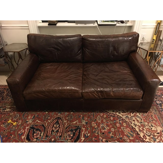 Restoration Hardware Maxwell Leather Sofa - Image 2 of 6