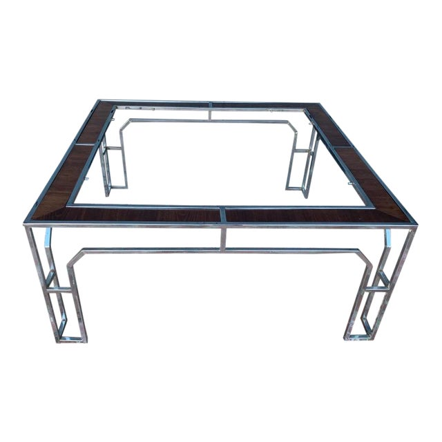 1950s Vintage Milo Baughman Square Coffee Table For Sale