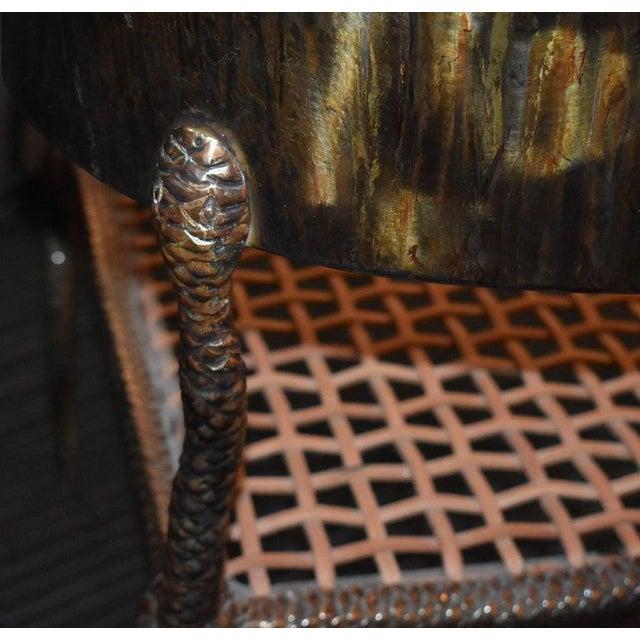 """Metal Sculptural """"Snake"""" Design Brass Desk or Bedroom Chair For Sale - Image 7 of 9"""