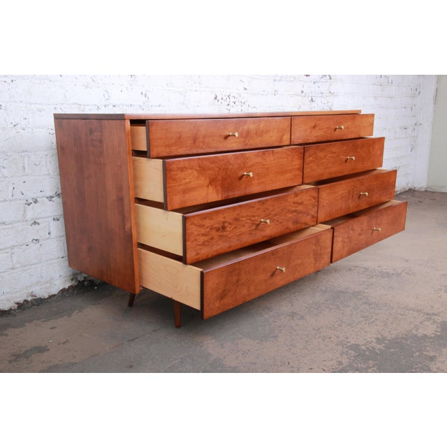 Calvin Furniture Paul McCobb Planner Group Mid-Century Modern Long Dresser or Credenza, Newly Restored For Sale - Image 4 of 13
