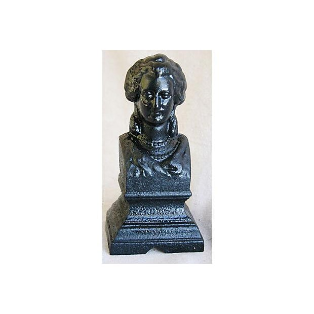Antique 19th C. French Iron Female Bust Fragment - Image 2 of 7