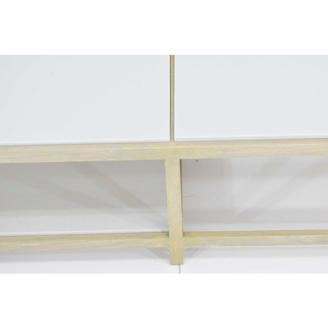 White Dunbar Coffee Table or Bench in Light Ash For Sale - Image 8 of 11