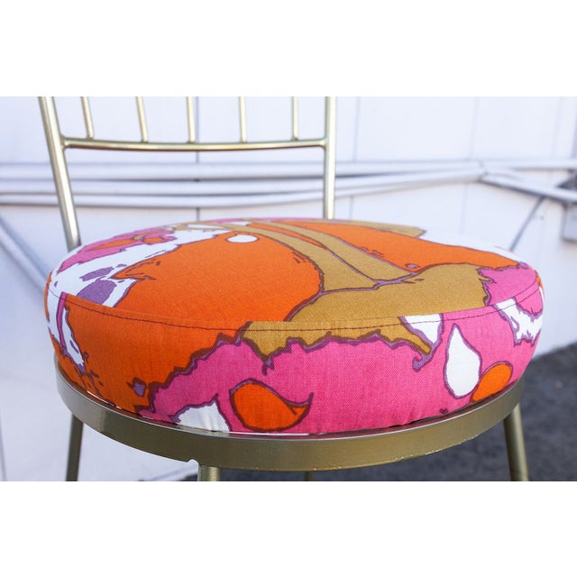 Vintage Salterini Chair with Patterned Upholstery For Sale - Image 5 of 8