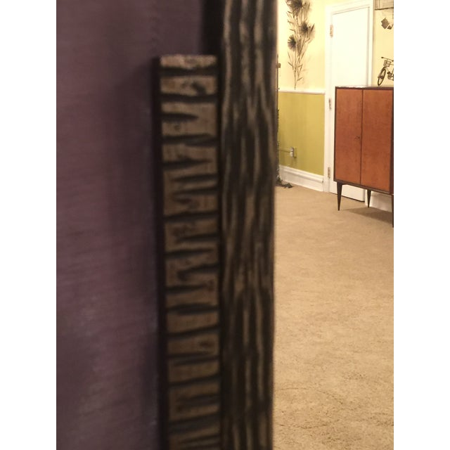 BEAUTIFUL JULES BUOY ART DECO WROUGHT IRON TRIFOLD FLOOR STANDING MIRROR For Sale - Image 9 of 11