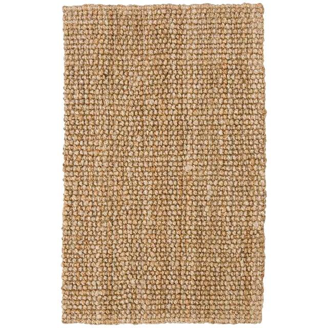 Hand Loomed Jute Natural Rug - 9′ × 12′ - Image 1 of 2