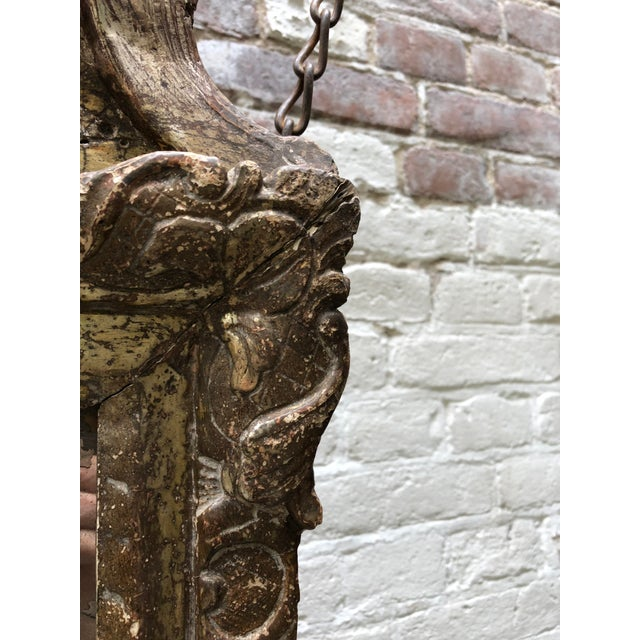 Early 18th Century Louis XIV Mirror, Carved Gilt Wood Provincial For Sale - Image 5 of 11