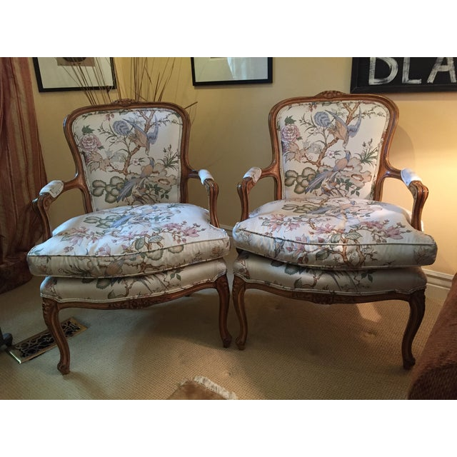 1980s Vintage Louis XV Style Chairs- A Pair For Sale In New York - Image 6 of 6