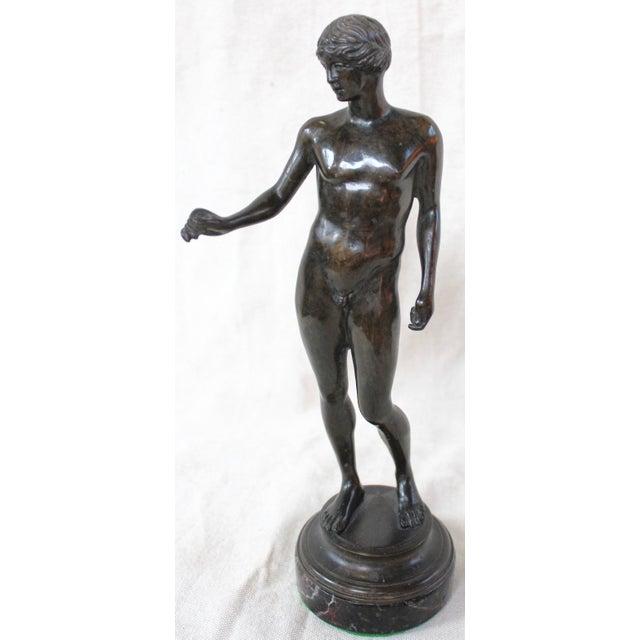 Bronze Nude Male Statue - Image 2 of 6