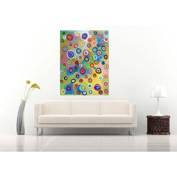 "Abstract Painting ""Rainbow Breeze"" by Susie Kate - Image 3 of 3"