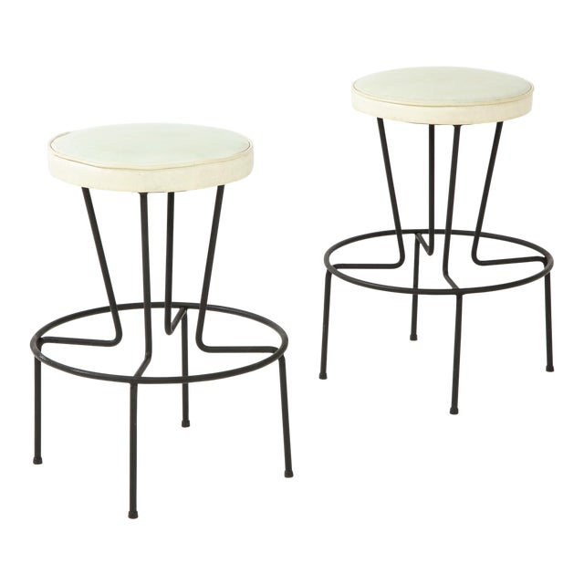 Frederick Weinberg Stools - a Pair For Sale