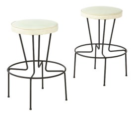Image of Wrought Iron Counter Stools