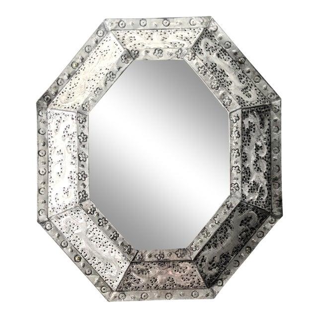 1960s Vintage Moroccan Metal Mirror For Sale