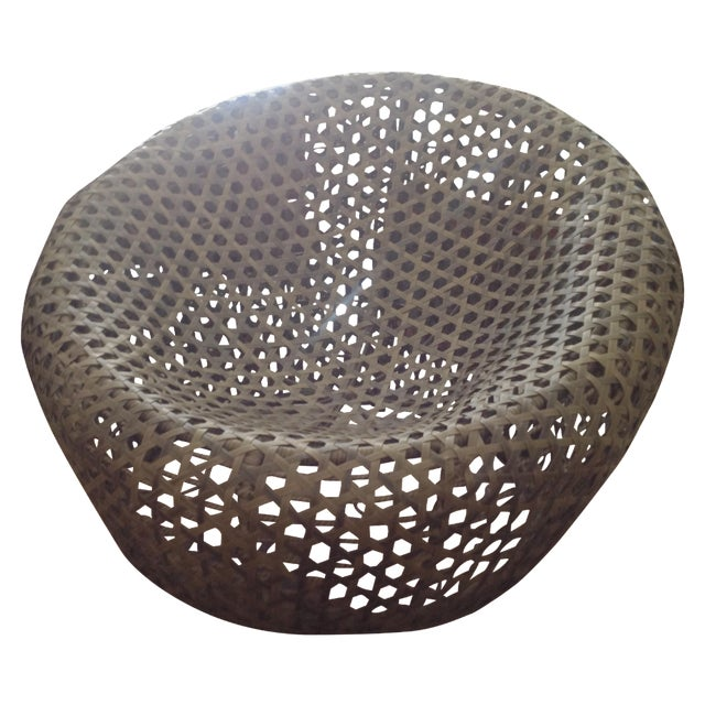 Modernist Rattan Wire Chair - Image 1 of 11