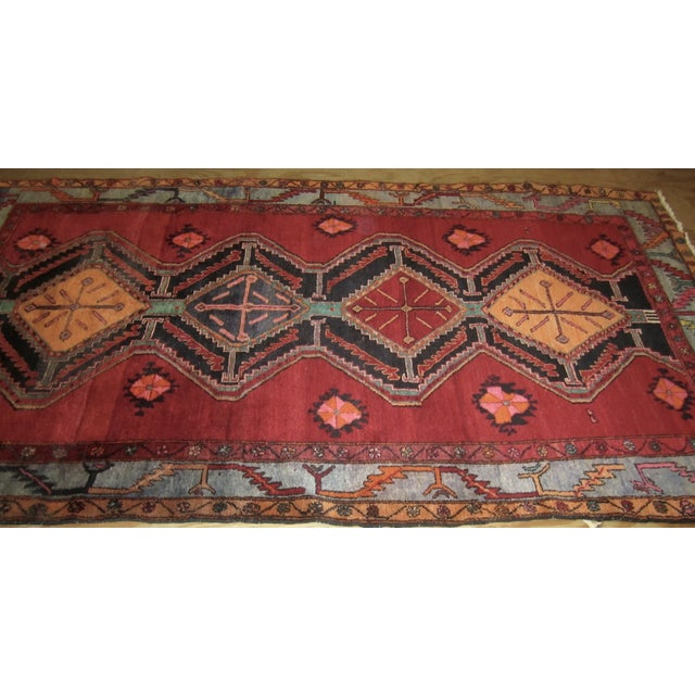 Antique Afshar Design Persian Rug - 5'3''x9'4'' - Image 3 of 4