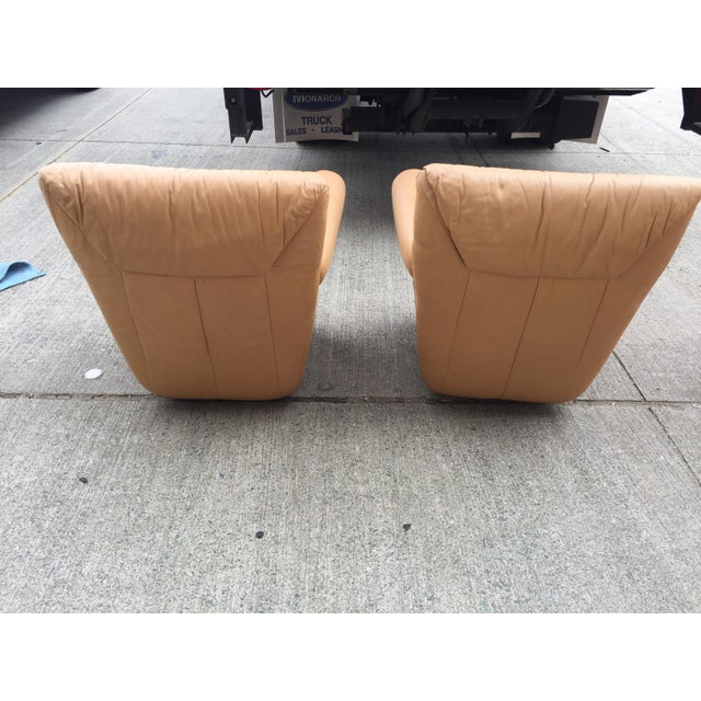 Vintage Leather Club Chairs a Pair For Sale - Image 4 of 8