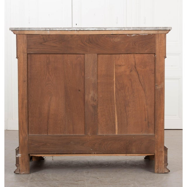 French 19th Century Louis Philippe Walnut Drop-Front Desk For Sale - Image 4 of 12