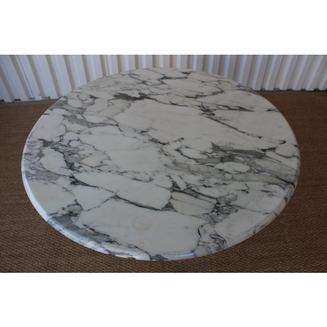 Mid-Century Modern Vintage 1970s Post-Modern Italian Marble Dining Table For Sale - Image 3 of 12