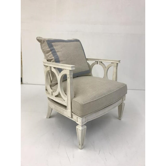 The Colson Chair is a first quality market sample that features a Down Plush Seat Cushion and a Fiberdown Back Cushion. It...