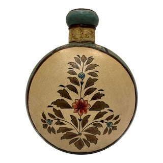 Vintage Painted Indian Moon Flask For Sale