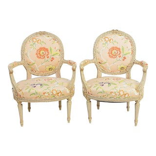 French Fauteiul Armchairs - A Pair
