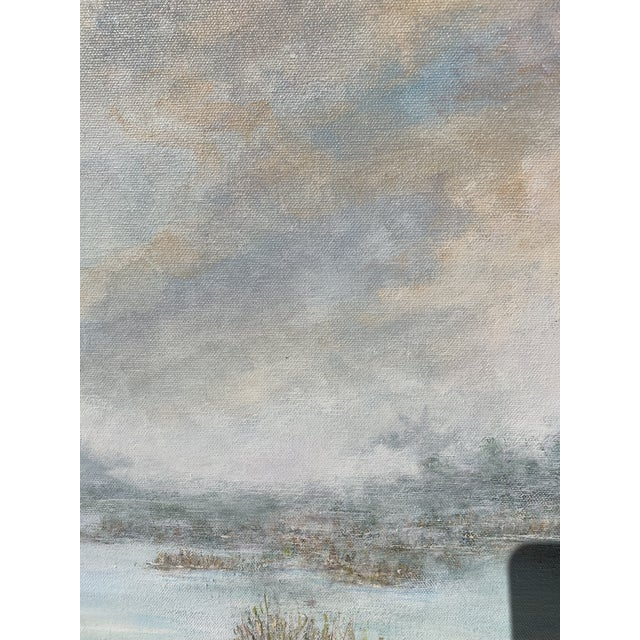 Canvas Florida Everglades Acrilic Painting in Pastels Tones. For Sale - Image 7 of 13
