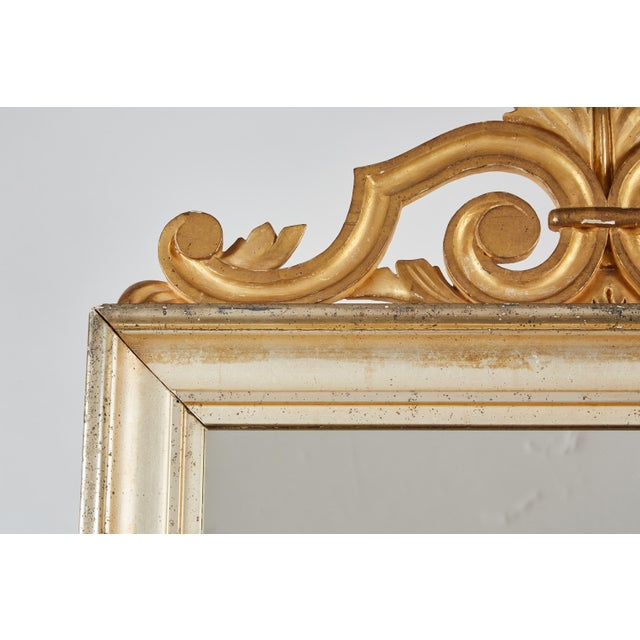 Glass 18th Century Italian Baroque Mirror with Faux Marble Base For Sale - Image 7 of 9