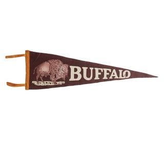 Vintage Buffalo Felt Flag Pennant For Sale