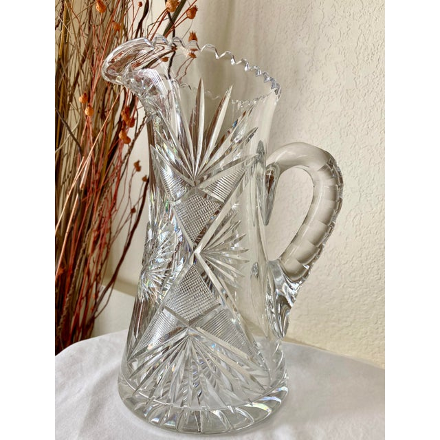Early 20th Century American Brilliant Cut Glass Tankard For Sale - Image 13 of 13