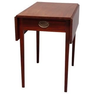 Antique Hepplewhite Style Mahogany Pembroke Single Drawer Side Table C.1830 For Sale