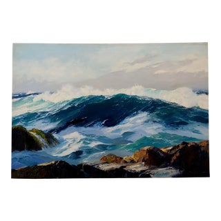 "Bennett Bradbury ""Big Sur"" North Pacific Seascape California Oil Painting For Sale"