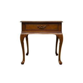 Davis Cabinet Co. Solid Antique Walnut End Table For Sale