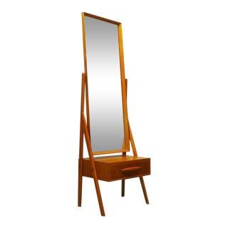 Danish Modern Teak Dressing Mirror by Arne Vodder For Sale