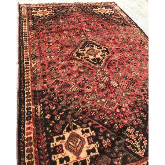 """Traditional 1950s Traditional Shiraz Wool Rug - 5'3""""x7'10"""" For Sale - Image 3 of 5"""